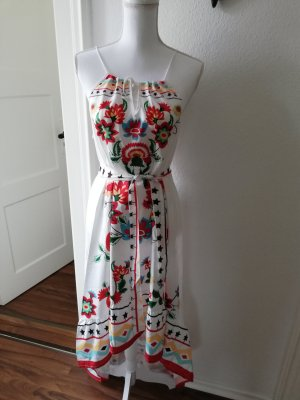 Robe à volants multicolore