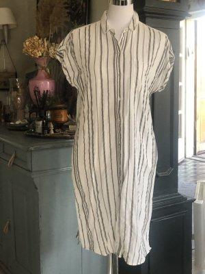 Jake*s Robe chemise blanc-gris
