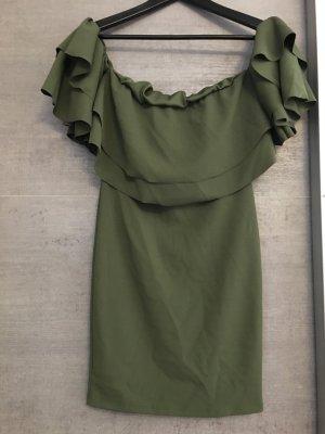 2Two Vestido estilo flounce caqui