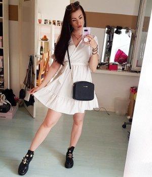 SheIn Vestido estilo flounce blanco
