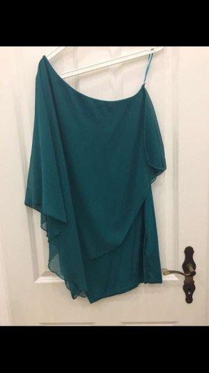 Zara Vestido playero turquesa-petróleo