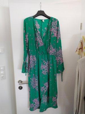 H&M Chiffon jurk lichtroze-groen
