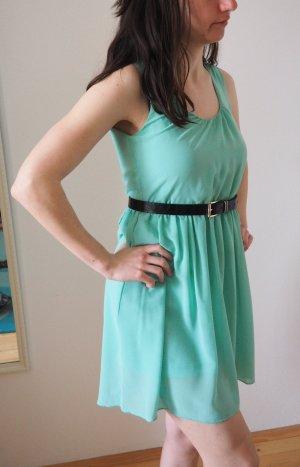 H&M Robe mi-longue turquoise