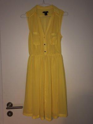 H&M Vestido de manga corta amarillo