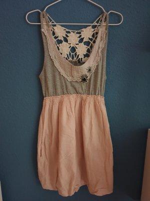 TRF Vestido strapless multicolor