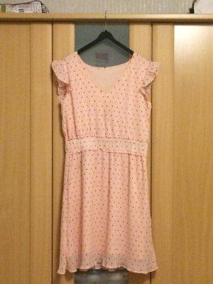 Robe trapèze rosé-gris foncé