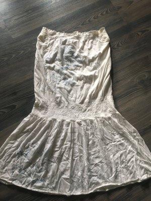 Babydoll-jurk wit-lichtblauw