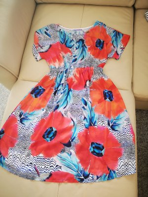 Babydoll-jurk wit-rood
