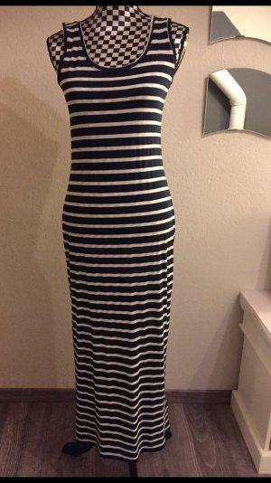 Takko Maxi-jurk wit-donkerblauw