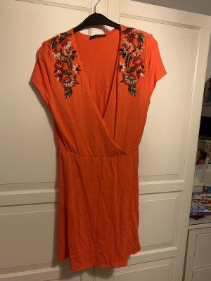 Zara T-shirt jurk donker oranje-zalm