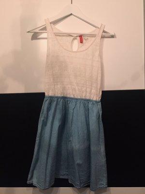 H&M Vestito da spiaggia bianco-blu
