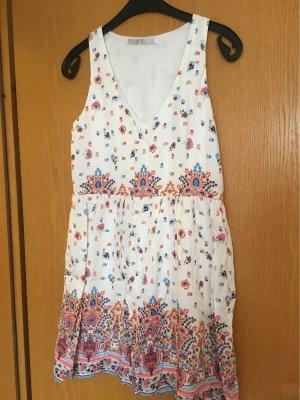 Zara Trafaluc Beach Dress multicolored
