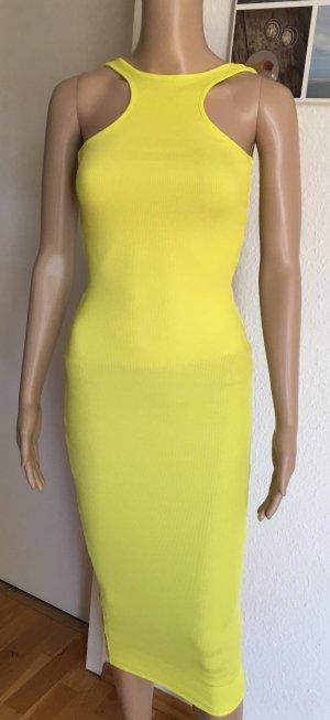 H&M Vestido de tubo amarillo-amarillo neón