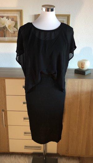 Sommerkleid Abendkleid Cocktailkleid mit Überwurf (ähnlich einem Poncho) klassisches Kleid