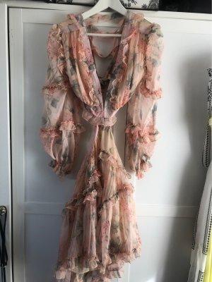 Babydoll-jurk roze-lichtgroen