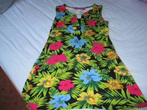Vestido estilo camisa multicolor Algodón