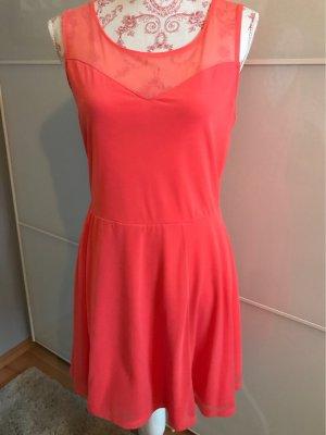 H&M Divided Midi Dress bright red-salmon