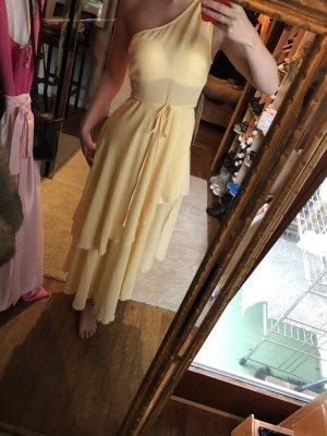 Asos Vestido de un hombro amarillo pálido