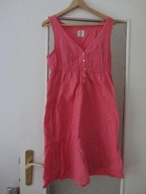 Sommerkleid aus Baumwolle-Leinen