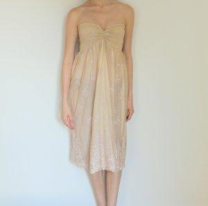 Vestido de encaje crema Algodón