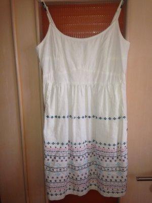 Sommerkleid aus Leinen, Ethno-Stickereien, Gr. 38, AJC