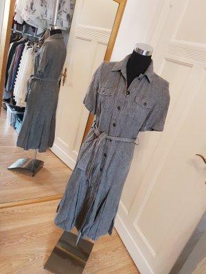 Sommerkleid aus reinem Leinen: Maxikleid mit schwingendem Rockteil, Gr. 38