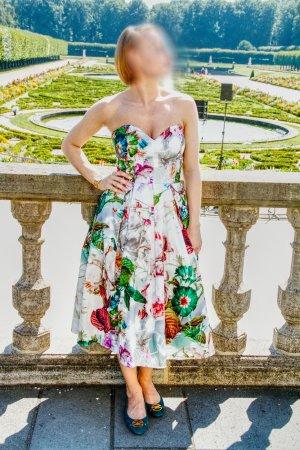 Asos Vestido bustier multicolor