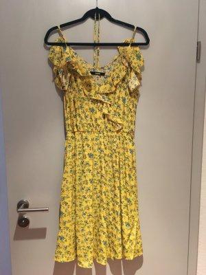 Bik Bok Midi Dress yellow-blue