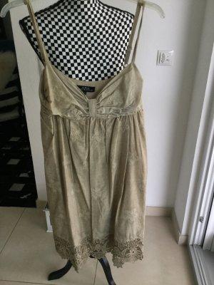 Sommerkleid, beige mit Spitze Ana Alcazar Gr. 38 Boho Hippie Ibizia Festival Gr.M