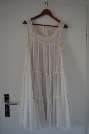 H&M A Line Dress cream synthetic fibre