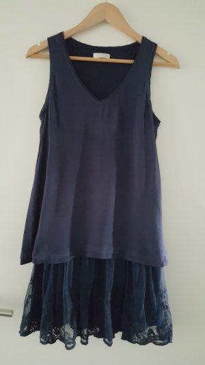 Promod Off the shoulder jurk donkerblauw