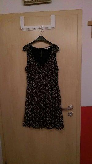 Sommerkleid, blau mit Blümchenprint, Größe 40