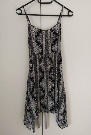Sommerkleid, blau/schwarz, weiß, Größe XS