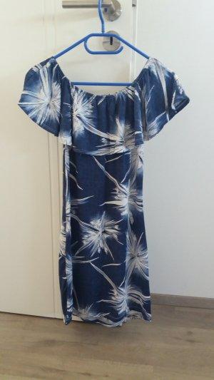 Sommerkleid Blau-Weiß