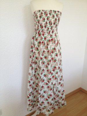 Sommerkleid | Blumenmuster | Ohne Träger