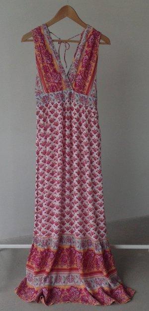 H&M L.O.G.G. Robe longue multicolore viscose