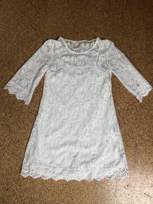 H&M Vestido de encaje blanco