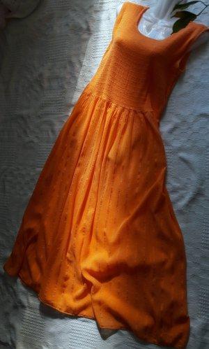 Midi Dress orange-neon orange