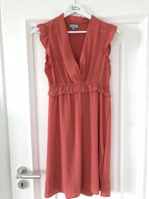Vivian Ray Hooded Dress salmon