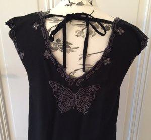Komodo Vestido de manga corta negro-gris