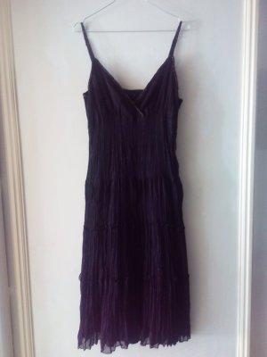 Sommerkleid Cocktailkleid schwarz fein plissiert