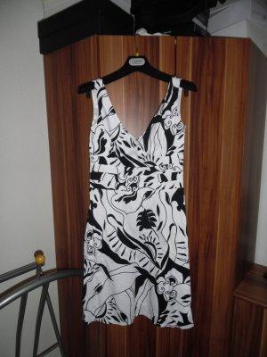 Sommerkleid / Cocktailkleid schwarz-weiß