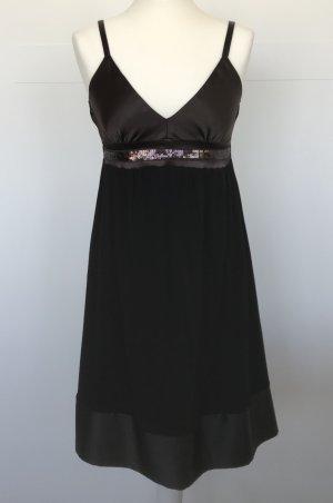 Sommerkleid Conbipel schwarz und braun mit Pailletten