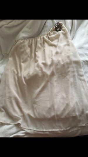 Vestido de un hombro crema-beige claro