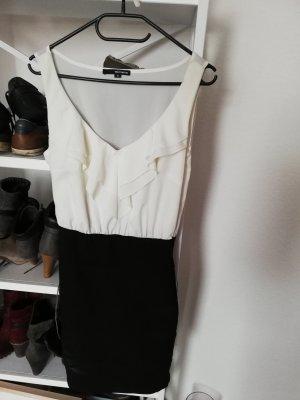 Sommerkleid - Creme /schwarz - 38