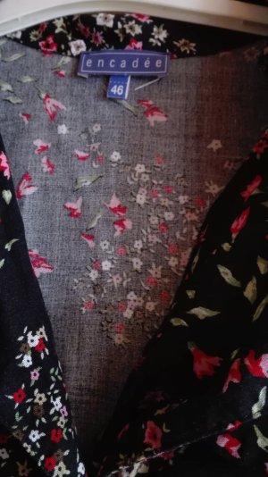 Vestido de manga corta negro-magenta