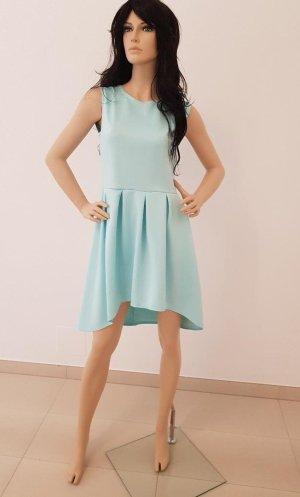 High Low Dress turquoise mixture fibre