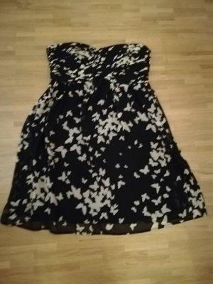 Sommerkleid, Esprit, schwarz mit Schmetterlingen, Babydoll
