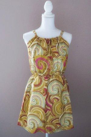 Sommerkleid farbenfroh bunt Afrika Mini 34 XS