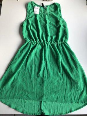 H&M Mini vestido verde Poliéster